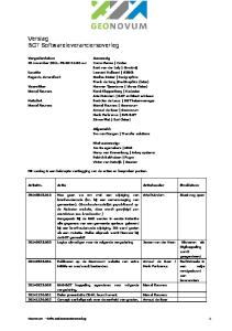 Verslag BGT Softwareleveranciersoverleg