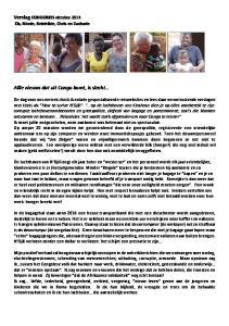 Verslag CONGOREIS oktober 2014 Els, Nicole, Reinhilde, Chris en Zacharie. Allle nieuws dat uit Congo komt, is slecht