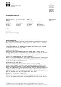 Verslag en Actiepunten