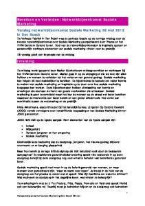 Verslag netwerkbijeenkomst Sociale Marketing 28 mei 2013 in Den Bosch