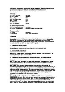 Verslag van de openbare vergadering van de commissie Samenleving, gehouden op donderdag 25 januari 2007, in de raadzaal te Middenbeemster