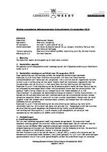 Verslag vergadering Adviescommissie Cultuurhistorie 23 september 2010