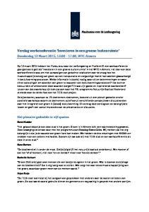 Verslag werkconferentie Investeren in een groene buitenruimte