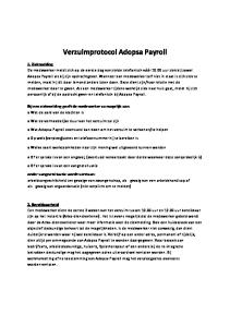 Verzuimprotocol Adopsa Payroll