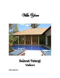 Villa Yvon. Selamat Datang! Welkom!