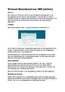Virtueel Kenniscentrum IBR (online)
