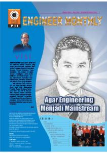 visi E D I S I I N I : Maret 2009 No. XXX ENGINEER MONTHLY 1