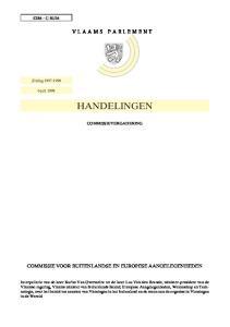 VLAAMS PARLEMENT HANDELINGEN COMMISSIEVERGADERING COMMISSIE VOOR BUITENLANDSE EN EUROPESE AANGELEGENHEDEN