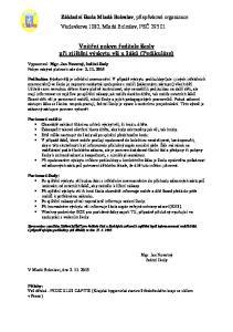 Vnitřní pokyn ředitele školy při zjištění výskytu vší u žáků (Pedikulóze)