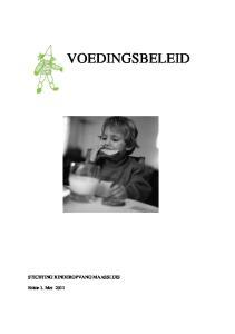 Voedingsbeleid Stichting Kinderopvang Maassluis Pdf Free Download