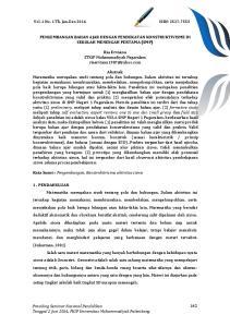 Vol. 1 No. 1 Th. Jan-Des 2016 ISSN: PENGEMBANGAN BAHAN AJAR DENGAN PENDEKATAN KONSTRUKTIVISME DI SEKOLAH MENENGAH PERTAMA (SMP)