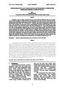 Vol. 3 No. 2 Oktober 2015 Jurnal TEKNOIF ISSN: PENGEMBANGAN ALAT UKUR GAS BUANG KENDARAAN BERMOTOR BERBASIS PERSONAL COMPUTER (PC)