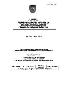 Vol. 7 No.1 April 2013