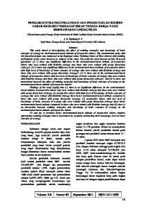 Volume XII Nomor 02 September 2011 ISSN