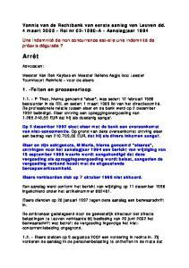 Vonnis van de Rechtbank van eerste aanleg van Leuven dd. 4 maart Rol nr A - Aanslagjaar 1994