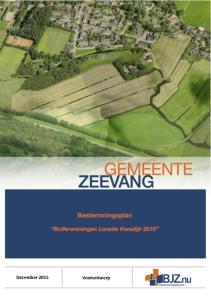 Voorontwerp. December Bufferwoningen 2015 Locatie Kwadijk 2015