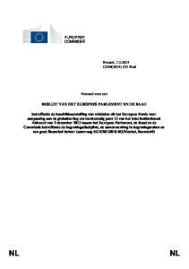 Voorstel voor een BESLUIT VAN HET EUROPEES PARLEMENT EN DE RAAD