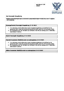VOORTGANGSRAPPORTAGE GR BEHEER GRONDWATERONTTREKKING DELFT NOORD - UITTREDING