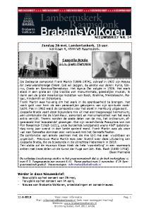 Vooruitblik op het concert van 26 mei Over Daan Manneke en zijn Cappella Breda
