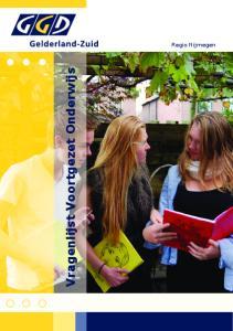 Vragenlijst Voortgezet Onderwijs. Regio Nijmegen