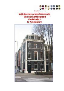 Vrijblijvende projectinformatie van het kantoorpand Oosteinde 1 te Amsterdam