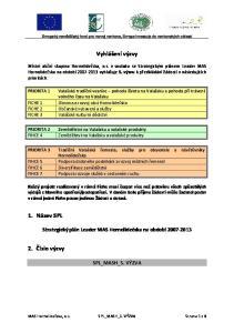 Vyhlášení výzvy. Strategický plán Leader MAS Hornolidečska na období SPL_MASH_5. VÝZVA