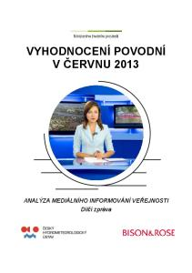 VYHODNOCENÍ POVODNÍ V ČERVNU 2013