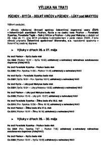 VÝLUKA NA TRATI. Na trati Považská Bystrica - Púchov bude vlak Os 3350 (Pov. Bystrica 14:30 Púchov 14:43) odrieknutý a nahradený NAD