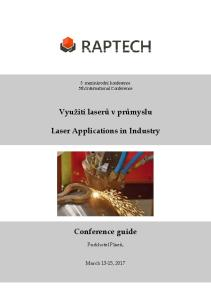 Využití laserů v průmyslu. Laser Applications in Industry