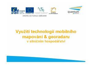 Využití technologií mobilního mapování & georadaru v silničním hospodářství
