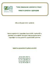 Výzkumný projekt NAZV- QJ
