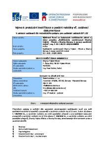 Výzva k prokázání kvalifikace a podání nabídky vč. zadávací dokumentace k zakázce zadávané dle metodického pokynu pro zadávání zakázek OP LZZ