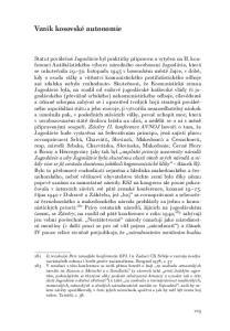 Vznik kosovské autonomie