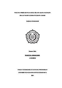WACANA PERSUASI PADA BUKU ISLAMI AGAR ANAK RAJIN SHALAT KARYA SUBHAN HUSAIN ALBARI NASKAH PUBLIKASI