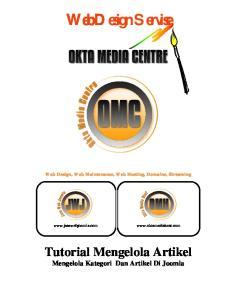 Web Design Servise. Tutorial Mengelola Artikel. Mengelola Kategori Dan Artikel Di Joomla. Web Design, Web Maintenance, Web Hosting, Domaine, Streaming