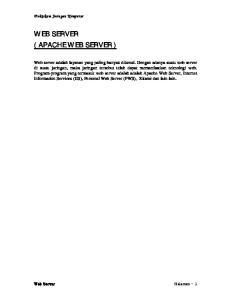 WEB SERVER ( APACHE WEB SERVER )