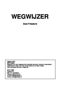 WEGWIJZER. Oost Friesland