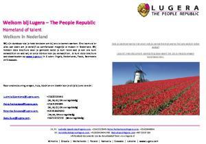 Welkom bij Lugera The People Republic