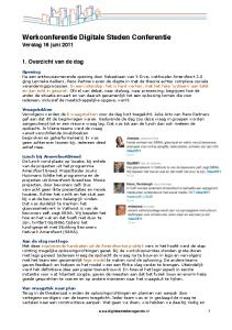 Werkconferentie Digitale Steden Conferentie Verslag 16 juni 2011