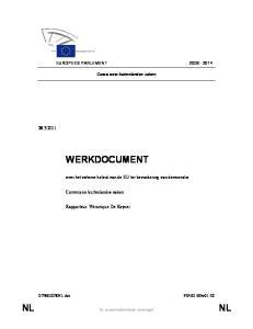 WERKDOCUMENT. NL In verscheidenheid verenigd NL over het externe beleid van de EU ter bevordering van democratie