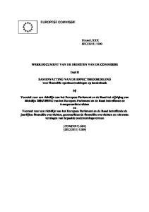 WERKDOCUMENT VAN DE DIENSTEN VAN DE COMMISSIE. Deel II. SAMENVATTING VAN DE EFFECTBEOORDELING voor financiële openbaarmakingen op landenbasis