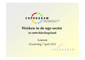 Werken in de ngo sector in ontwikkelingsland