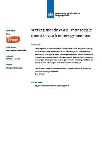 Werken met de WWB. Voor sociale diensten van kleinere gemeenten