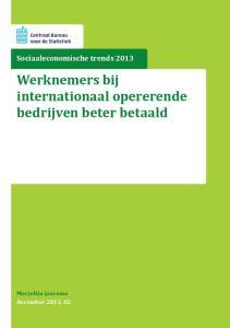 Werknemers bij internationaal opererende bedrijven beter betaald