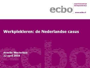 Werkplekleren: de Nederlandse casus
