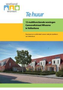 Wheeme in Vollenhove. Duurzaam en comfortabel wonen nabij de stadskern van Vollenhove