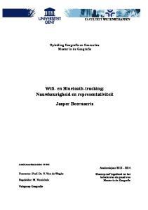 Wifi- en Bluetooth-tracking: Nauwkeurigheid en representativiteit Jasper Beernaerts