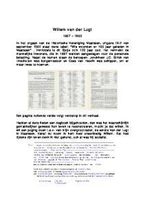 Willem van der Lugt. Een pagina vullende versie volgt verderop in dit verhaal