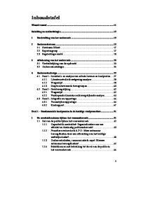 Woord vooraf Inleiding en methodologie Doelstelling van het onderzoek... 15