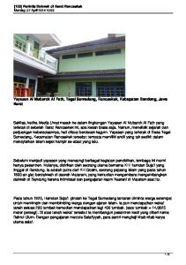Yayasan Al Mubarok Al Fath, Tegal Sumedang, Rancaekek, Kabupaten Bandung, Jawa Barat